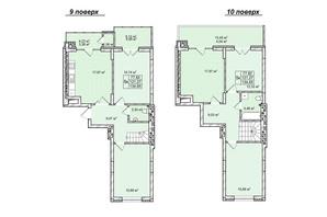 ЖК Софиевка: планировка 5-комнатной квартиры 136 м²