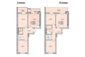 ЖК Софиевка: планировка 5-комнатной квартиры 134.7 м²