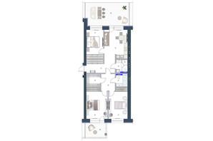 ЖК София: планировка 3-комнатной квартиры 131.1 м²