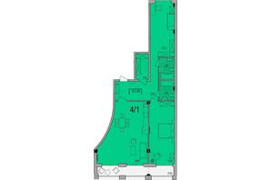 ЖК Сomfort City: планировка 2-комнатной квартиры 121.3 м²