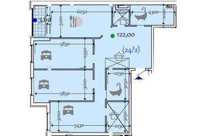 ЖК Сomfort City: планировка 2-комнатной квартиры 122 м²