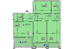 ЖК Сomfort City: планировка 2-комнатной квартиры 136.7 м²