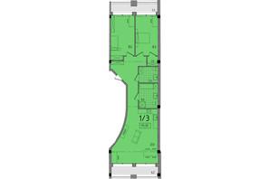 ЖК Сomfort City: планировка 2-комнатной квартиры 111.33 м²