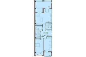ЖК Сomfort City: планировка 2-комнатной квартиры 112.06 м²