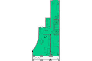 ЖК Сomfort City: планування 2-кімнатної квартири 121.3 м²