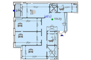 ЖК Сomfort City: планування 2-кімнатної квартири 122.23 м²