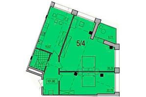 ЖК Сomfort City: планування 2-кімнатної квартири 101.8 м²