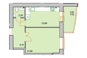 ЖК Сонячна Оселя: планування 1-кімнатної квартири 42.5 м²