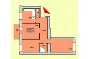 ЖК Сонячна Оселя: планування 3-кімнатної квартири 76 м²