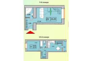 ЖК Сонячна Оселя: планування 2-кімнатної квартири 62.7 м²