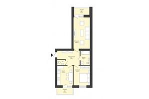 ЖК Сонячний край: планування 2-кімнатної квартири 60.1 м²