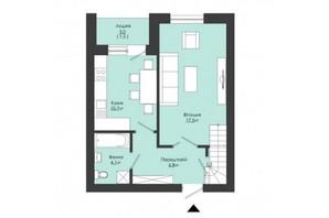 ЖК Сонячний край: планування 3-кімнатної квартири 82.9 м²