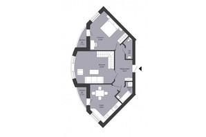 ЖК Сонячний край: планування 5-кімнатної квартири 145.3 м²