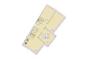 ЖК Сорок друга перлина: планування 3-кімнатної квартири 104.64 м²