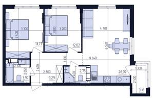 ЖК Современный квартал: планировка 2-комнатной квартиры 70.25 м²