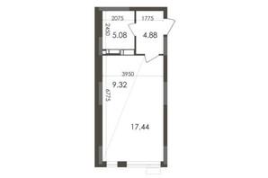 ЖК Star City: планування 1-кімнатної квартири 36.72 м²