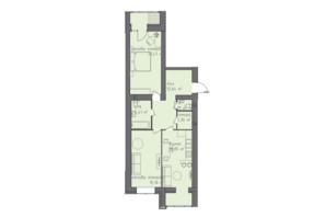 ЖК Статус 1: планування 2-кімнатної квартири 77.96 м²