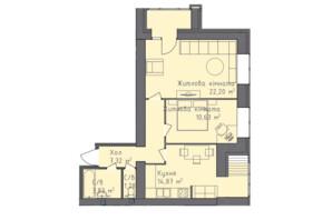 ЖК Статус 1: планування 2-кімнатної квартири 60.24 м²