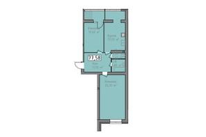 ЖК Статус 1: планировка 2-комнатной квартиры 77.58 м²