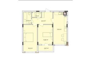ЖК Стожары: планировка 2-комнатной квартиры 60.45 м²