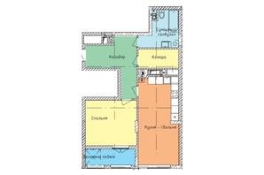 ЖК Стрыйская-Научная ІІІ: планировка 1-комнатной квартиры 67 м²