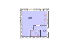 ЖК StyleUP: планування 1-кімнатної квартири 42.66 м²