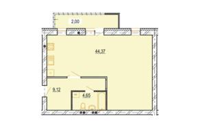 ЖК StyleUP: вільне планування квартири 60.14 м²