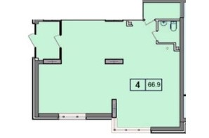 ЖК SunCity: планування приміщення 66.9 м²