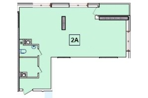 ЖК SunCity: планировка 2-комнатной квартиры 59.75 м²