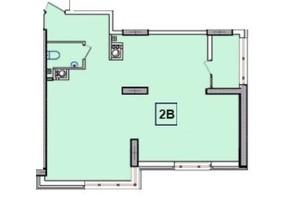 ЖК SunCity: планировка 2-комнатной квартиры 63.78 м²