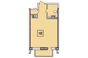 ЖК SunCity: планировка 1-комнатной квартиры 35.57 м²