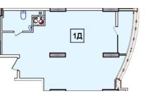 ЖК SunCity: планировка 1-комнатной квартиры 48.98 м²
