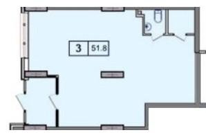ЖК SunCity (СанСіті): планування приміщення 53.18 м²