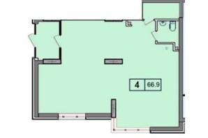 ЖК SunCity (СанСіті): планування приміщення 66.9 м²