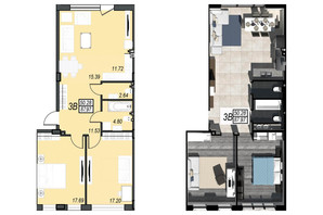 ЖК Sunrise City: вільне планування квартири 89 м²