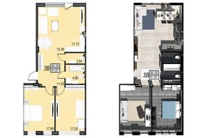 ЖК Sunrise City (Санрайз Сити): свободная планировка квартиры 89 м²