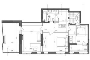 ЖК Svitlo Park: планировка 4-комнатной квартиры 124.5 м²