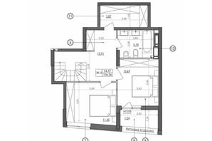 ЖК Svitlo Park: планировка 3-комнатной квартиры 106.6 м²