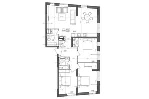 ЖК Svitlo Park: планировка 3-комнатной квартиры 106.4 м²