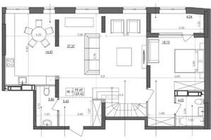 ЖК Svitlo Park: планировка 5-комнатной квартиры 167.1 м²