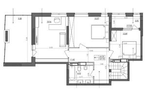ЖК Svitlo Park: планировка 4-комнатной квартиры 123.1 м²