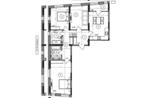 ЖК Svitlo Park: планировка 3-комнатной квартиры 86.48 м²