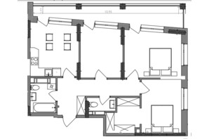 ЖК Svitlo Park: планировка 3-комнатной квартиры 74.8 м²
