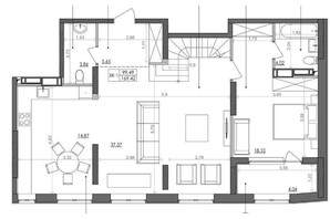 ЖК Svitlo Park (Свитло Парк): планировка 5-комнатной квартиры 166.8 м²