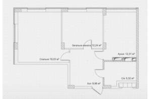 ЖК Синергия-3: планировка 2-комнатной квартиры 59.4 м²