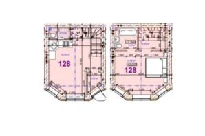 ЖК Трояндовый: планировка 1-комнатной квартиры 55.52 м²