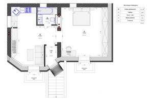 ЖК Трояндовый: планировка помощения 53.44 м²