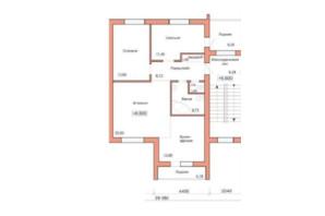 ЖК Три шоколада: планування 3-кімнатної квартири 77.85 м²