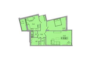 ЖК Централ Хол: планування 2-кімнатної квартири 81.9 м²