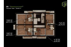 ЖК Центральний: планування 1-кімнатної квартири 42 м²